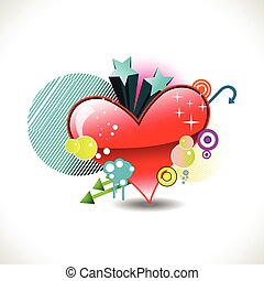 vector funky heart