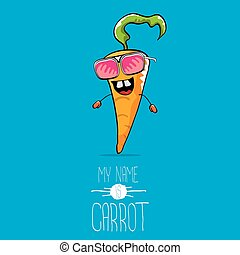vector funny cartoon orange carrot character
