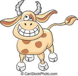 Vector funny cow