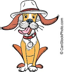 vector funny dog wearing hats