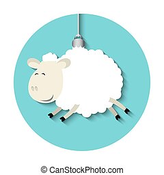 Vector funny sheep