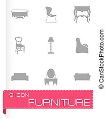 Vector furniture icons set