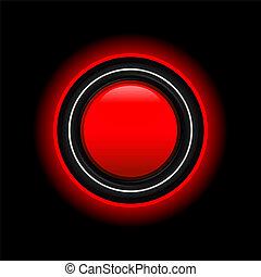 Vector futuristic red button
