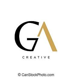 vector, ga, symbool, logo, ontwerp, pictogram