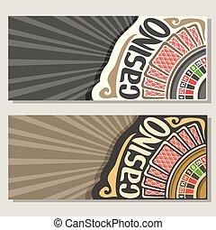 Vector gamble banners