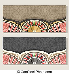 Vector gamble banners for Casino