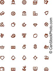 Vector gambling icon set