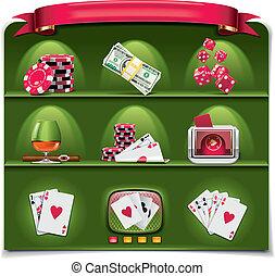 Vector gambling icon set. P.1 (g)