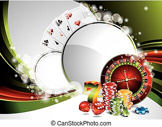 Vector gambling illustration with casino elements
