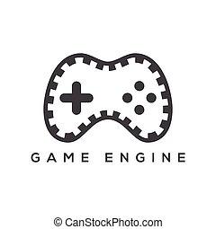 Vector Game Controller Logo Icon Design Template