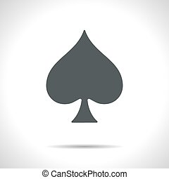 Vector game spade icon. Eps10 - Vector flat isolate game...