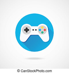 vector, gamepad, icono