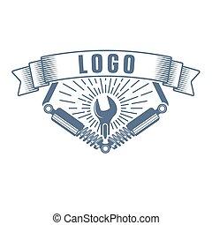 vector garage service logo