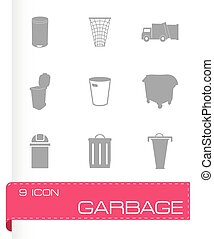 Vector garbage icons set