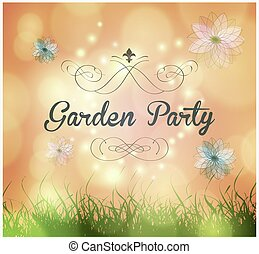 garden party invitation - Vector garden party invitation...