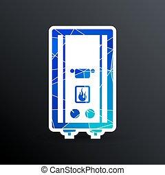 Vector Gas Boiler cold apparatus tank display thermal calorifier.