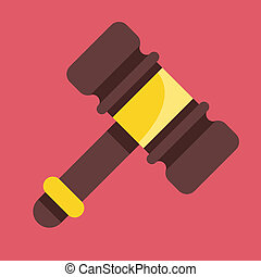 Vector Gavel Icon