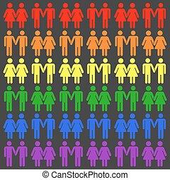 Vector gay LGBT seamless pattern