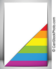 Gay Pride Flag Letter Document - Vector - Gay Pride Flag...