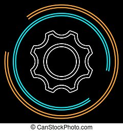 vector gear - cog icon - settings symbol