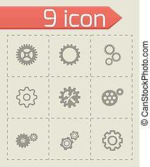 Vector gear icons set