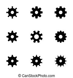 Vector gear icons set