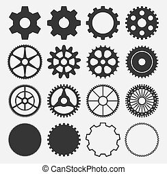 vector gear silhouettes