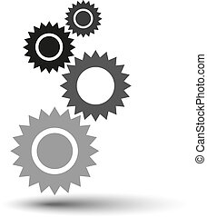 vector gears background
