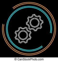 vector gears - cogs icon - settings symbol