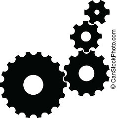 Vector Gears - Isolated Vector Gears on white background...