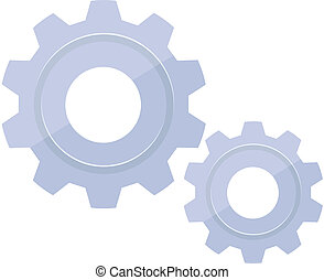 Vector Gears Flat Icon