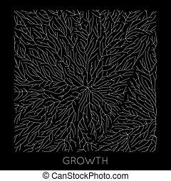 Vector generative branch growth pattern. Lichen like organic...