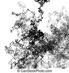vector genrative art - Abstract composition of fading lines...