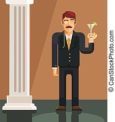Vector gentleman flat illustration