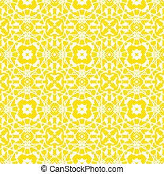 Vector geometric art deco pattern in bright yellow