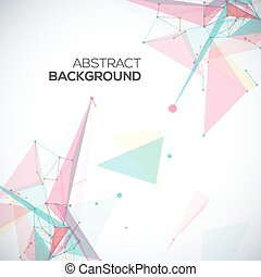 Vector abstract geometric background with polygonal abstract shapes, with circles, lines, triangles