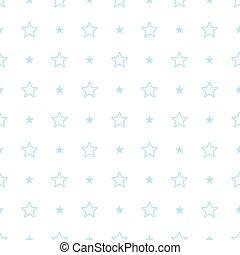 Vector geometric blue seamless pattern. Stars simple...