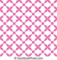 vector geometric cross flower seamless pattern background, symmetrical