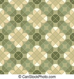 Vector geometric floral background, ornamental abstract seamless