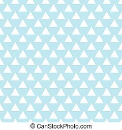 Vector geometric light blue seamless pattern. Triangles simple background