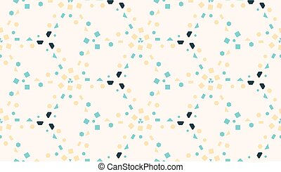 Vector geometric mosaic seamless pattern in pastel colors