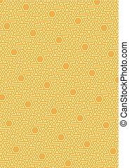 Vector geometric pattern, built on a hexagonal grid.