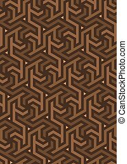 Vector geometric pattern, built on a hexagonal grid....