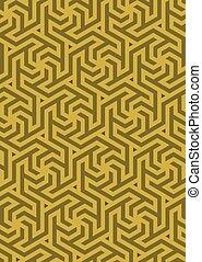 Vector geometric pattern, built on a hexagonal grid. ...