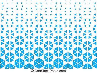 Vector geometric pattern in blue color