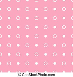 Vector geometric pink seamless pattern. Dots simple background
