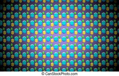 Vector geometric screensaver with diamonds