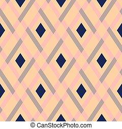 Vector geometric seamless argyle pattern