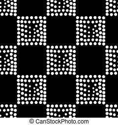 Vector geometric seamless pattern. Repeating abstract dots