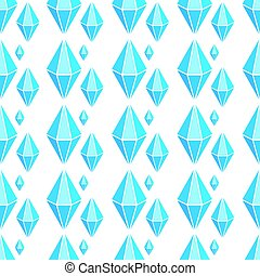 Vector geometric seamless pattern with diamonds